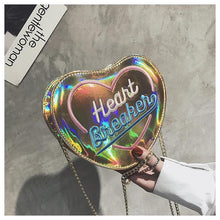Load image into Gallery viewer, 4 Colors Hologram Heart Breaken Cross Body Bag SP14136