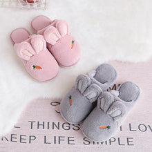 Load image into Gallery viewer, 4 Colors Kawaii Bunny Carrot Plush Slippers SP14182