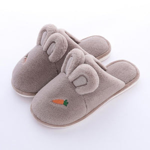 4 Colors Kawaii Bunny Carrot Plush Slippers SP14182