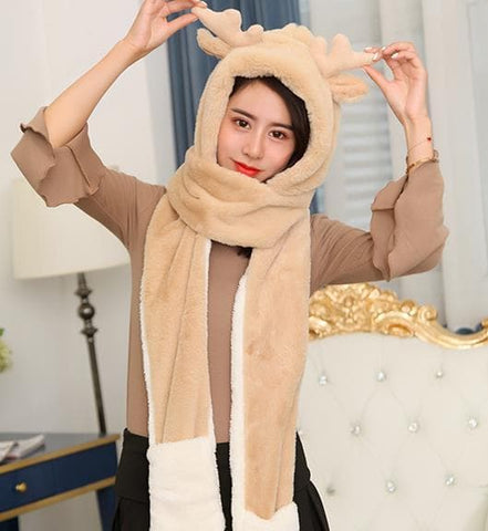 4 Colors Kawaii Deer Hat/Scarf/Gloves Set SP1710872