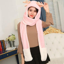 Load image into Gallery viewer, 4 Colors Kawaii Deer Hat/Scarf/Gloves Set SP1710872