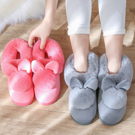 4 Colors Kawaii Fluffy Bunny Slippers SP1710789