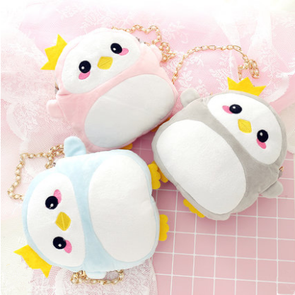 4 Colors Kawaii Penguin Shoulder Bag SP1811879