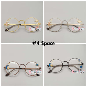 4 Colors Kawaii Sakura Rose Space Lolita Glasses Frame SP13770