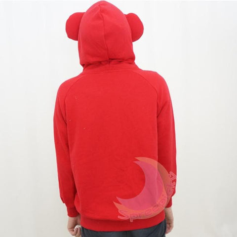 [4 Colors] L-3XL Good Quality Loose Bear Ear Hoodie Cotton Coat Jacket SP141468 - SpreePicky  - 3