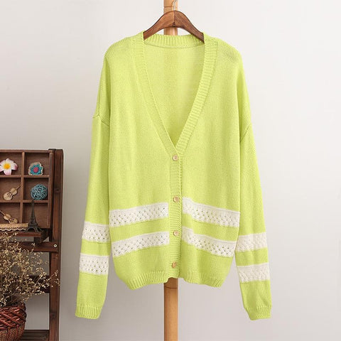 4 Colors Long Sleeve Cardigan Sweater Coat SP154450