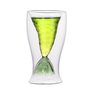 4 Colors Mermaid Double Layer Wine Glass SP14101 - SpreePicky FreeShipping