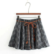 Load image into Gallery viewer, 4 Colors Plaid Woolen Student Skirt SP1711250