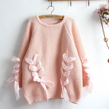 Load image into Gallery viewer, 4 Colors Ribbon Bow Heart Sweater SP1711276