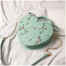 Load image into Gallery viewer, 4 Colors Sweet Flower Heart Handbag/Cross Body Bag SP14021