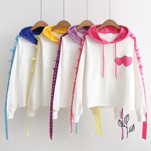 4 Colors Sweet Heart Couple Hoodie Jumper SP1710982