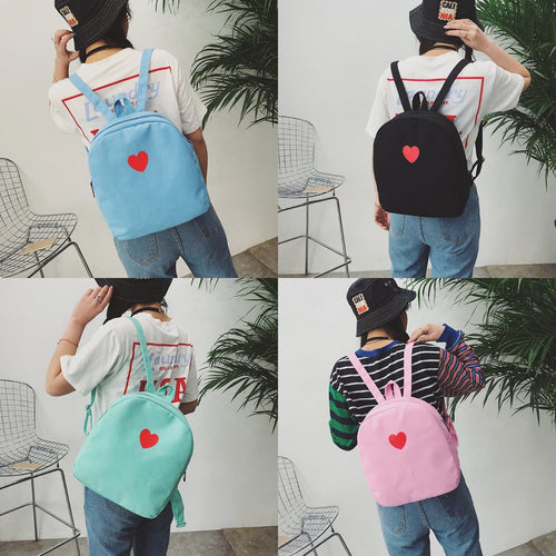 Final Stock! Sweet Heart Printing Backpack S12694