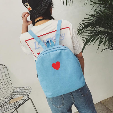 4 Colors Sweet Heart Printing Backpack S12694