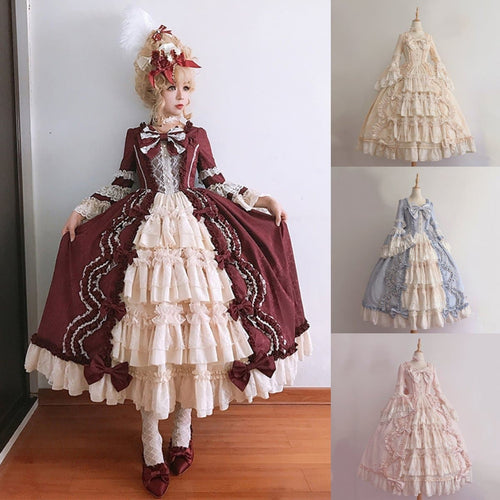 4 Colors Vintage Falbala Lace Lolita Dress SP14308