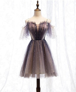 Cute Tulle Short Prom Dress, Tulle Homecoming Dress - DelaFur Wholesale