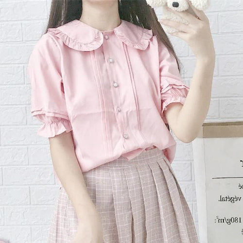 4 Colors Falbala Lolita Blouse Shirt SP14012