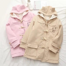 Load image into Gallery viewer, School Uniform Cute Gril Bear Print Hoodie Coat SP15613