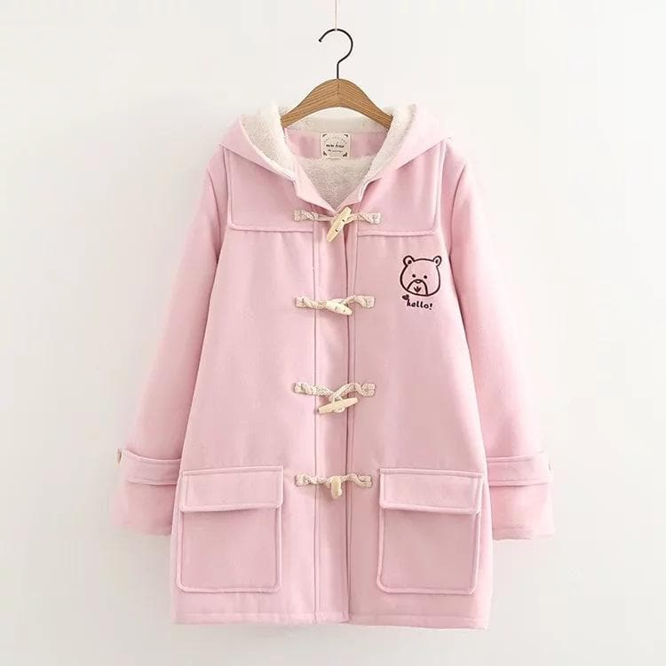 School Uniform Cute Gril Bear Print Hoodie Coat SP15613