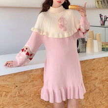 Load image into Gallery viewer, Sweet Heart Jacquard Knit Dress SP14684 - SpreePicky FreeShipping