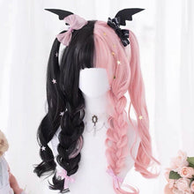 Load image into Gallery viewer, Black Pink Mix Long Lolita Wig SP14555