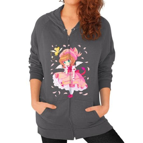 Wonderful Sakura Zip Hoodie (on woman) - SpreePicky  - 2
