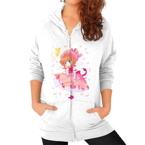 Wonderful Sakura Zip Hoodie (on woman)