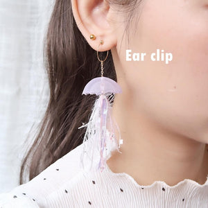 5 Colors Fairy Jellyfish Tassel Designer Handmade Earring SP13638