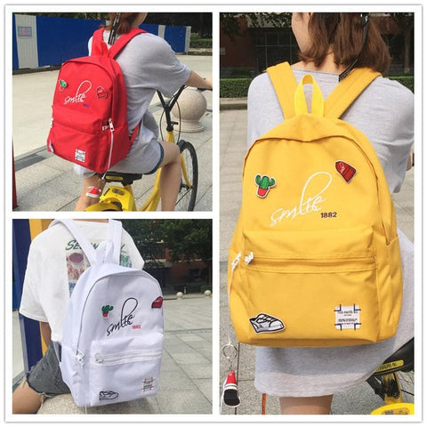 5 Colors Kawaii Couple School Backpack SP1710797