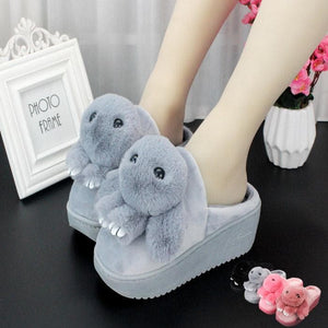 5 Colors Kawaii Fluffy Heels Slippers SP1710874