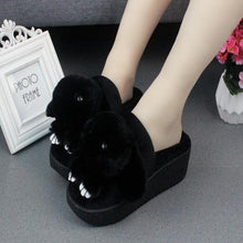 Load image into Gallery viewer, 5 Colors Kawaii Fluffy Heels Slippers SP1710874