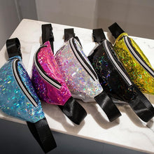 Load image into Gallery viewer, 5 Colors Kawaii Hologram Waist Bag SP13960