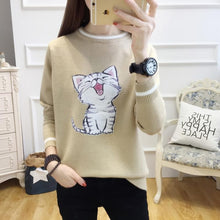 Load image into Gallery viewer, 5 Colors Laughing Cat Kitty Sweater S13078