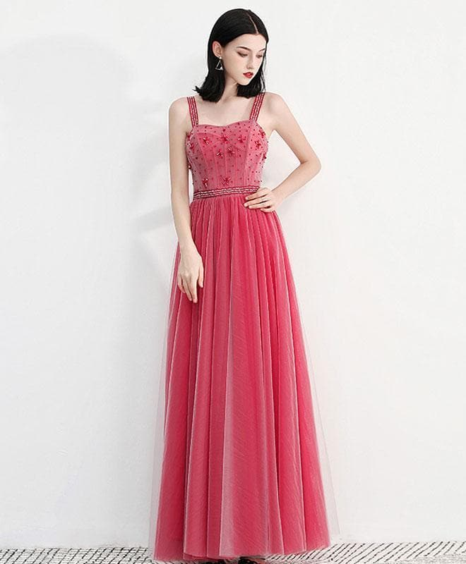 Sweetheart Neck Tulle Long Prom Dress, Tulle Evening Dress - DelaFur Wholesale