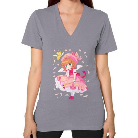 Wonderful Sakura V-Neck Woman Tee Shirt - SpreePicky  - 13