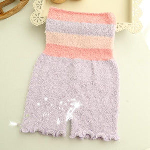 Pastel Fleece High Waist Warming Shorts SP164918 - SpreePicky  - 7