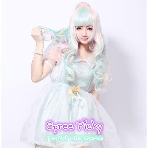 HARAJUKU Lolita Cosplay Candy Bubble 65cm Wig With Pony Tails 3pcs/set SP130188 - SpreePicky  - 4
