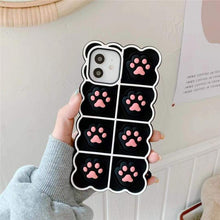Load image into Gallery viewer, Black/White/Pink Soft Squishy Cat Paws Cute Phone Case SP16495 - Harajuku Kawaii Fashion Anime Clothes Fashion Store - SpreePicky