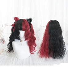Load image into Gallery viewer, 65CM Black Mixed Red Gothic Lolita Cosplay Wig SP14847