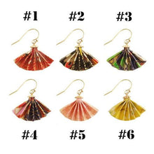 Load image into Gallery viewer, 6 Colors Harajuku Fan Earrings SP13756