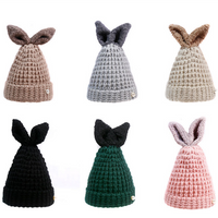 7892a9c97c6 6 Colors Kawaii Bunny Warming Knitted Hat SP1710823