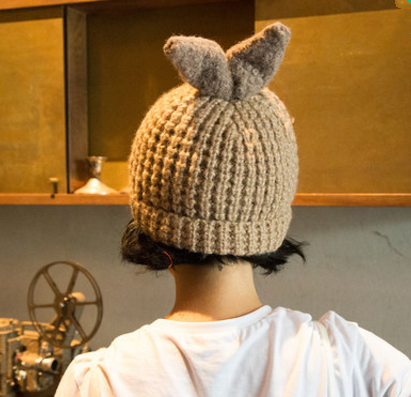 6 Colors Kawaii Bunny Warming Knitted Hat SP1710823