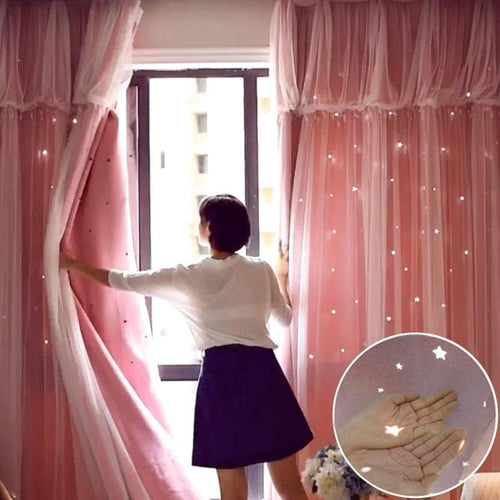 6 Colors Pastel Starry Princess Curtains SP1711221