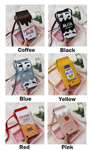 6 Colors Kawaii Milk Box Cross Body Bag SP13758