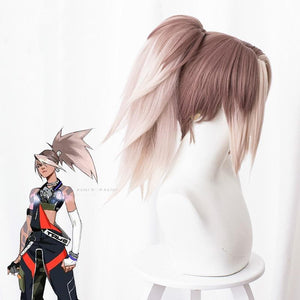 League of Legends Akali Cosplay Wig with Tail SP14700