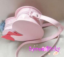 Load image into Gallery viewer, Lolita sweet double sides of heart with bow hang bag - 6 colors -SP130202 - SpreePicky  - 3
