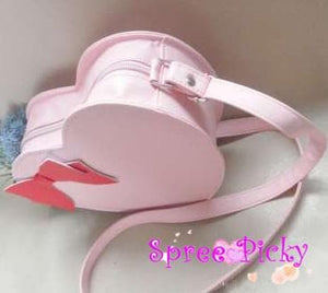 Lolita sweet double sides of heart with bow hang bag - 6 colors -SP130202 - SpreePicky  - 3