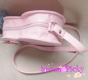 Lolita sweet double sides of heart with bow hang bag - 6 colors -SP130202 - SpreePicky  - 4