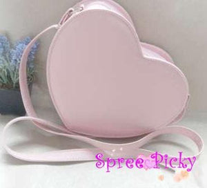 Lolita sweet double sides of heart with bow hang bag - 6 colors -SP130202 - SpreePicky  - 5