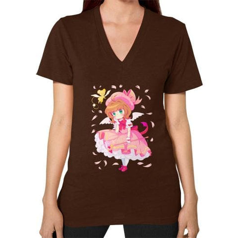 Wonderful Sakura V-Neck Woman Tee Shirt - SpreePicky  - 5