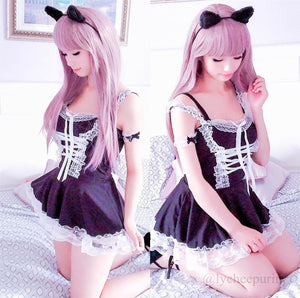 Final Stock! Lovely Lace Maid Lingerie S13166